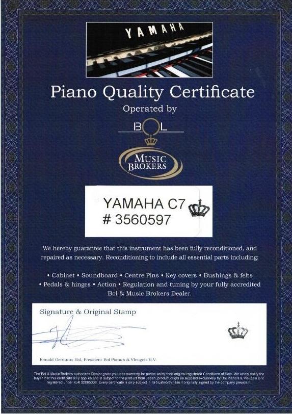 Certificación oficial de Music Brokers