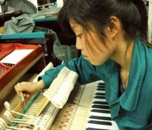 Fabricación de pianos en China