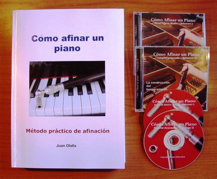 Método curso de afinación de piano, libro+2 cds