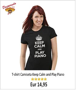 Keep calm and piano lady tshirt