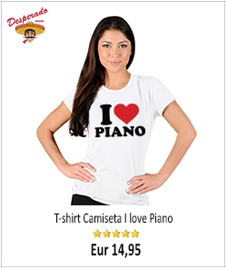 I love piano t-shirt