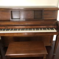 Espectacular piano de pared Baldwin Hamilton